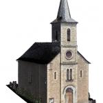 Modèle 3D de l'église de Cougousse réalisé par scanner 3D